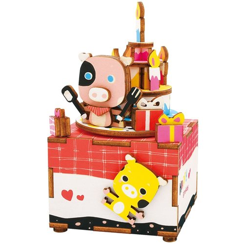 Robotime Sweet Heart AM309 - Wooden Model Kit - Music Box - DIY