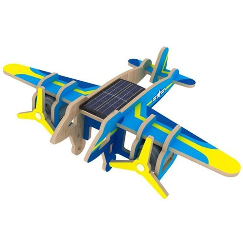Robotime Bomber Aircraft P330S Solar - Wooden Model Kit - Paper Coating