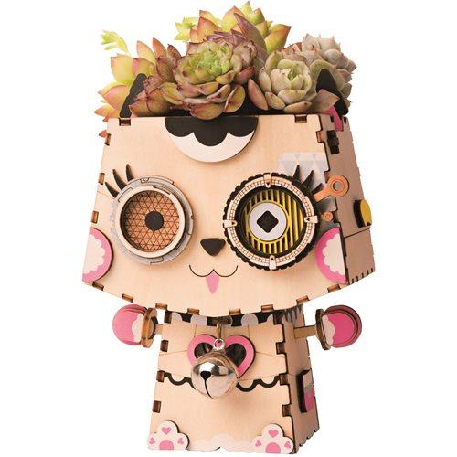 Robotime Kitty FT731 - Wooden Model Kit - Flower Pot - DIY