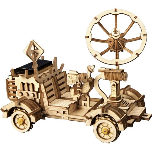 Robotime Moon Buggy Solar LS401 - Wooden Model Kit - DIY
