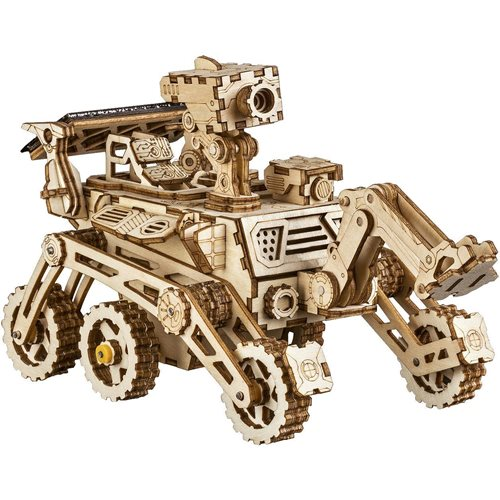 Robotime Curiosity Rover Solar LS402 - Wooden Model Kit - DIY