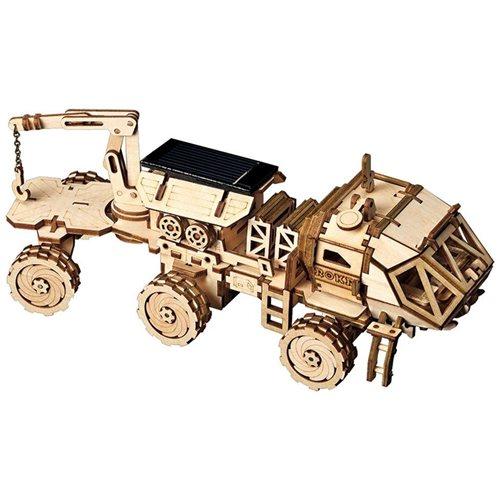 Robotime Hermes Rover met zonnecel LS504 - Houten modelbouw - DIY