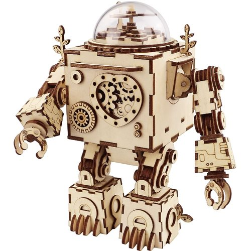 Robotime Orpheus AM601 - Wooden Model Kit - Music Box - Steampunk - DIY
