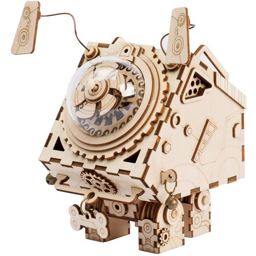 Robotime Seymour AM480 - Wooden Model Kit - Music Box - Steampunk - DIY