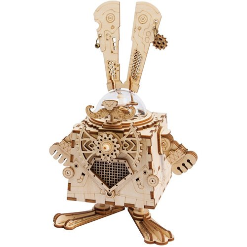 Robotime Bunny AM481 - Wooden Model Kit - Music Box - Steampunk - DIY
