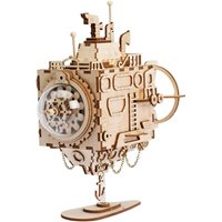 Robotime Submarine AM680 - Wooden Model Kit - Music Box - Steampunk - DIY