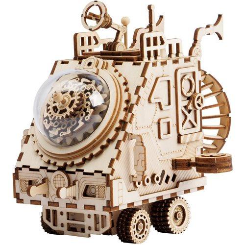 Robotime Raumfahrzeug AM681 - Holzmodellbau - Spieluhr - Steampunk - DIY