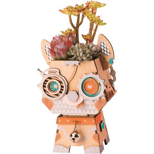 Robotime Hündchen FT742 - Holzmodellbau - Blumentopf - DIY