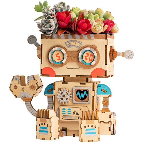 Robotime Robot FT761 - Wooden Model Kit - Flower Pot - DIY