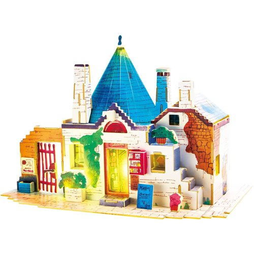 Robotime Spring in Italy SJ302 - Wooden Model Kit - Miniature House with LED Light - DIY