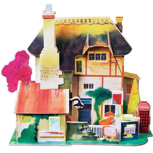 Robotime English Hut SJ304 - Wooden Model Kit - Miniature House with LED Light - DIY