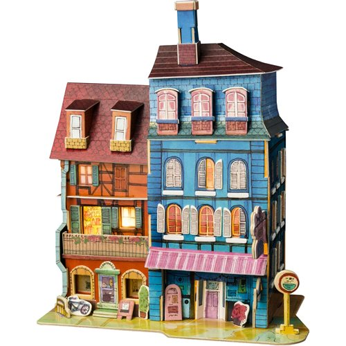 Robotime Lost in Colmar SJ401 - Wooden Model Kit - Miniature House with LED Light - DIY