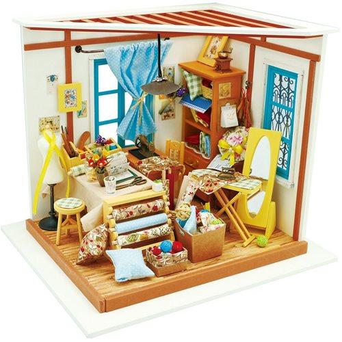 Robotime Lisas Schneider DG101 - Holzmodellbau - Puppenhaus mit LED-Licht - DIY
