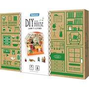 Robotime Jasons Keuken DG105 - Houten modelbouw - Poppenhuis met LED licht - DIY