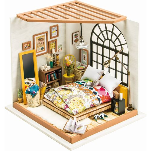 Robotime Alice's Dreamy Bedroom DG107 - Wooden Model Kit - Dollhouse with LED Light - DIY