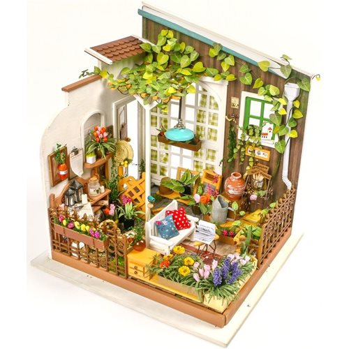 Robotime Miller's Garden DG108 - Wooden Model Kit - Dollhouse with LED Light - DIY