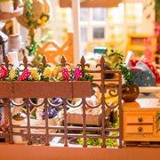 Robotime Millers Tuin DG108 - Houten modelbouw - Poppenhuis met LED licht - DIY