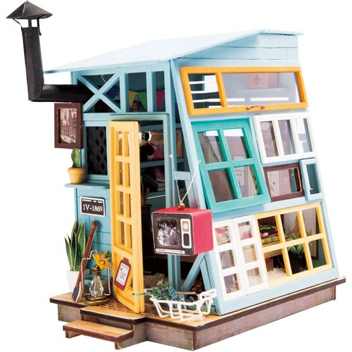 Robotime Wooden Hut DGM03 - Wooden Model Kit - Mini Dollhouse with LED Light - DIY