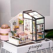 Robotime Balkon Dagdromen DGM05 - Houten modelbouw - Mini Poppenhuis met LED licht - DIY