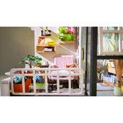 Robotime Balcony Daydreaming DGM05 - Wooden Model Kit - Mini Dollhouse with LED Light - DIY
