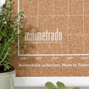 Milimetrado - World Map Corkboard - with Wooden Frame - White/White - 70x50 cm
