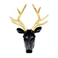 Walplus Deer Head - Wall Decoration - Black/Gold