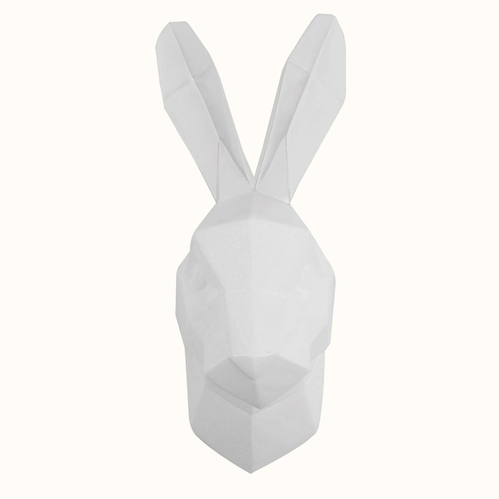 Walplus Rabbit - Wall Decoration - Geometric - White
