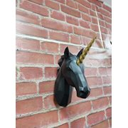 Walplus Unicorn - Wall Decoration - Geometric - Black/Gold
