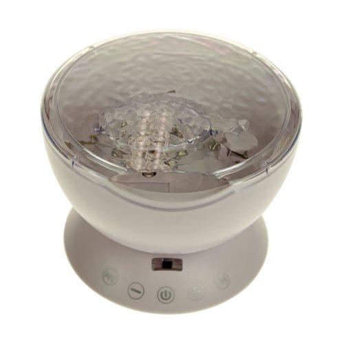 United Entertainment Ocean Projector Pot - mit Fernbedienung - Weiß
