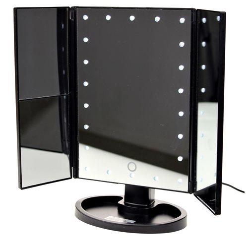 United Entertainment Luxus Touchscreen LED-Schminkspiegel - Schwarz