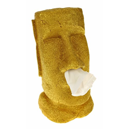 Rotary Hero Moai Tissue Box Houder - Tissuehouder - Goud - Special Edition