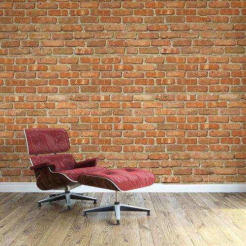 Walplus Ziegelwand - Wandgemälde Art Aufkleber - 4 Blätter von 60x90 cm