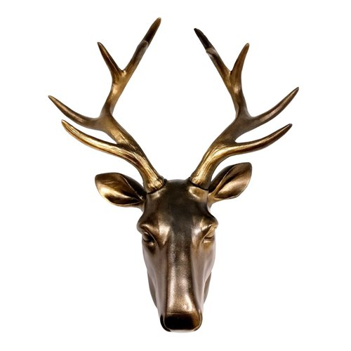 Walplus Deer Head - Wall Decoration - Vintage Brown
