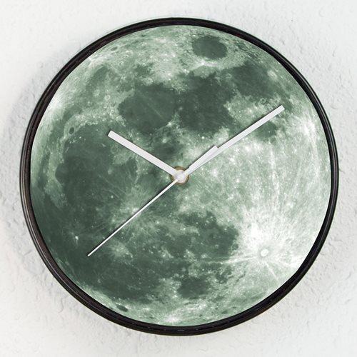 Walplus Mond - Wanduhr - Glüht im Dunkeln Uhr - für Kinder
