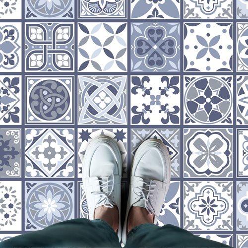Walplus Lisbon - Home Decoration Sticker - Floor Sticker/Wall Sticker - Blue - 120x60 cm