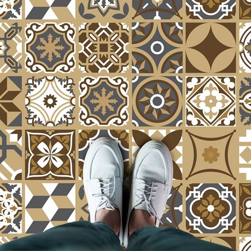 Walplus Dunkle Bronze - Home Dekoration Wandaufkleber - Boden- oder Wandfliesen - 120x60 cm