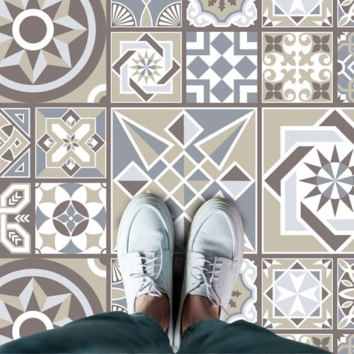 Walplus Spanish Limestone Melange - Home Decoration Sticker - Floor Sticker/Wall Sticker - 120x60 cm
