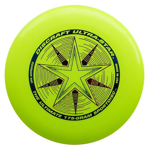 Discraft UltraStar - Frisbee - Yellow - 175 grams