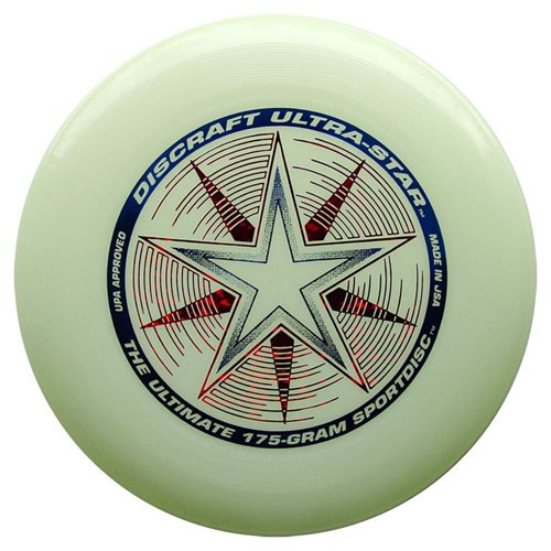 Discraft UltraStar - Frisbee - Nite Glo - Glow in the Dark - 175 gram