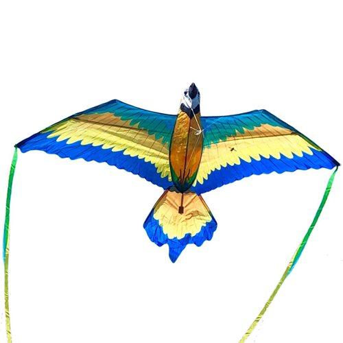 XKites 3D Blauw Macaw - Vlieger - Eenlijner - Kids