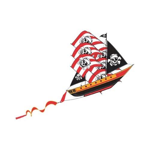 XKites 3D Piratenschiff - Einleiner Drachen - Kinder