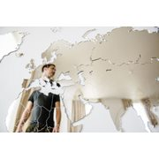 MiMi Innovations Luxury Mirror World Map - Wall Decoration - 130x78 cm/51.2x30.8 inch - Mirror