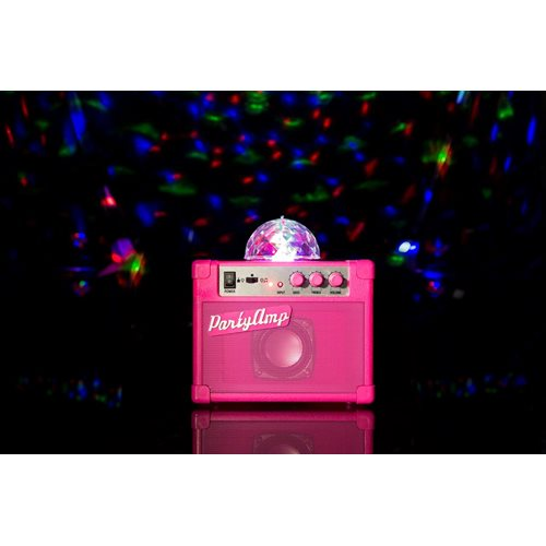 Fizz Creations Party Verstärker mit Rotierendem Disco LED Licht - Pink