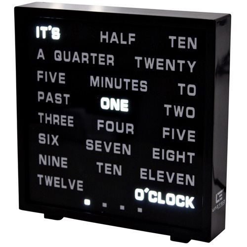United Entertainment LED Word Clock - English 17x16.5 cm