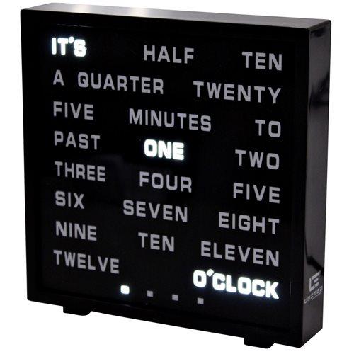 United Entertainment LED Word Clock - English 17x16.5 cm