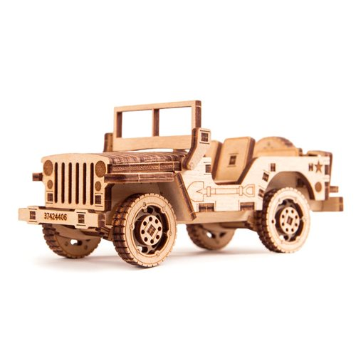 Wood Trick Wooden Model Kit - Jeep