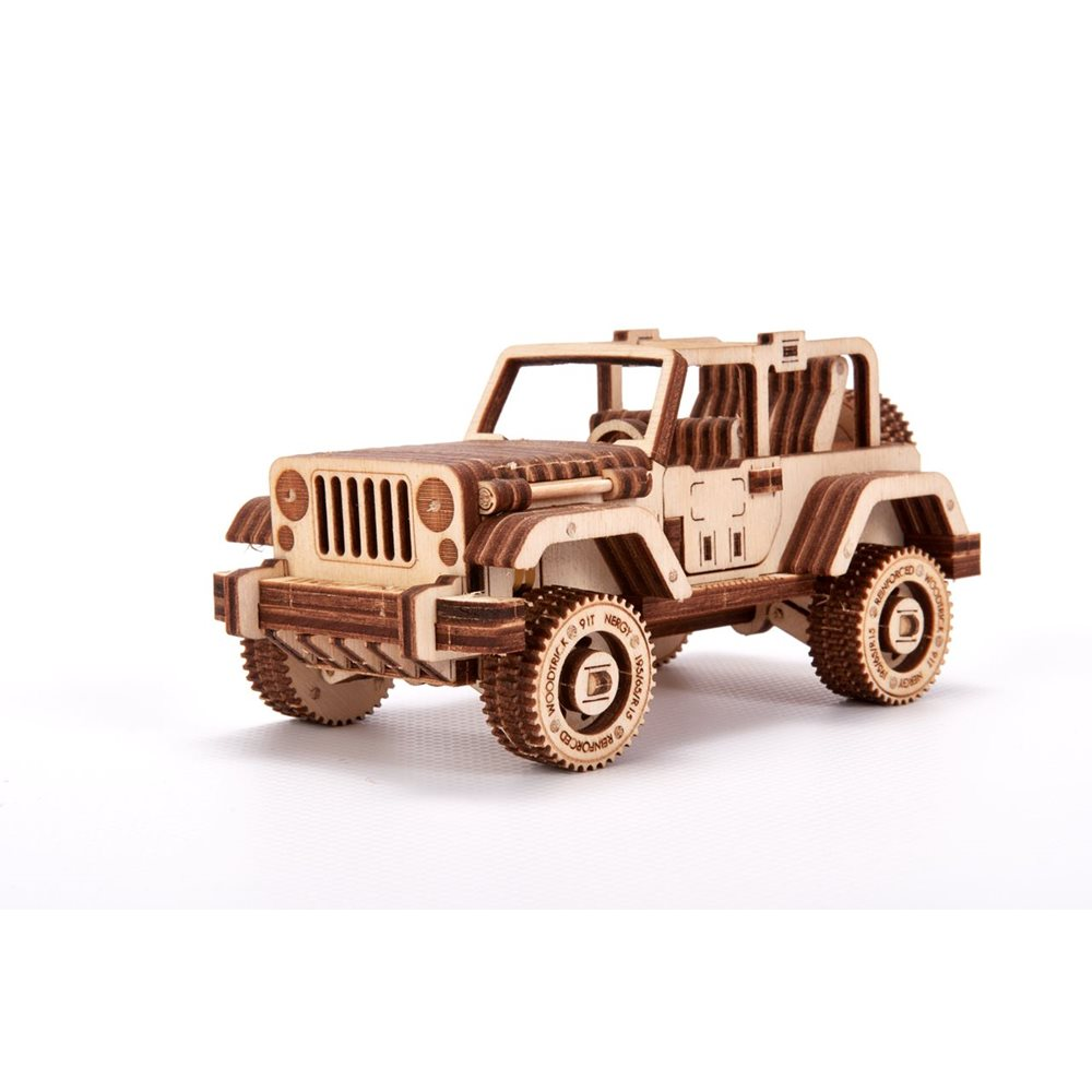 Wood Trick Wooden Model Kit - Safary Car 4×4