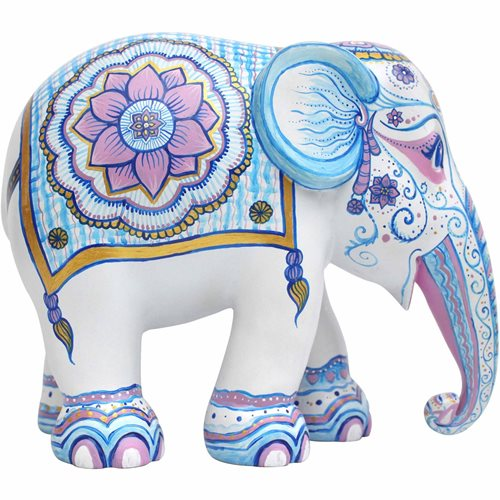 Elephant Parade Indian Blues - Handgemaakt Olifantenstandbeeld - 15 cm