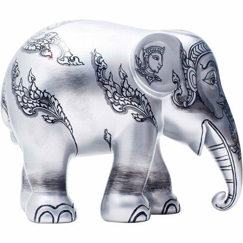 Elephant Parade Dheva Ngen - Hand-Crafted Elephant Statue - 20 cm