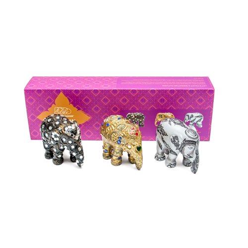 Elephant Parade Sukhothai - Multipack - Hand-Crafted Elephant Statue - 3x7 cm
